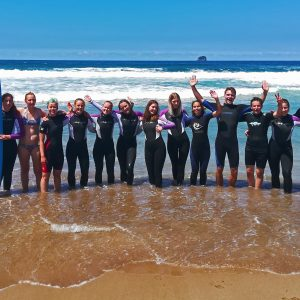 International Student Tours - Surfing Students
