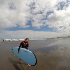 Surfboard girl